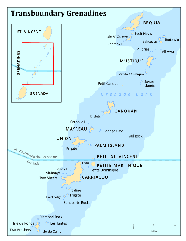 Most of the Grenadines named